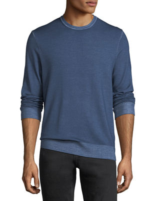 Image 1 of 2: Washed Wool Crewneck Sweater