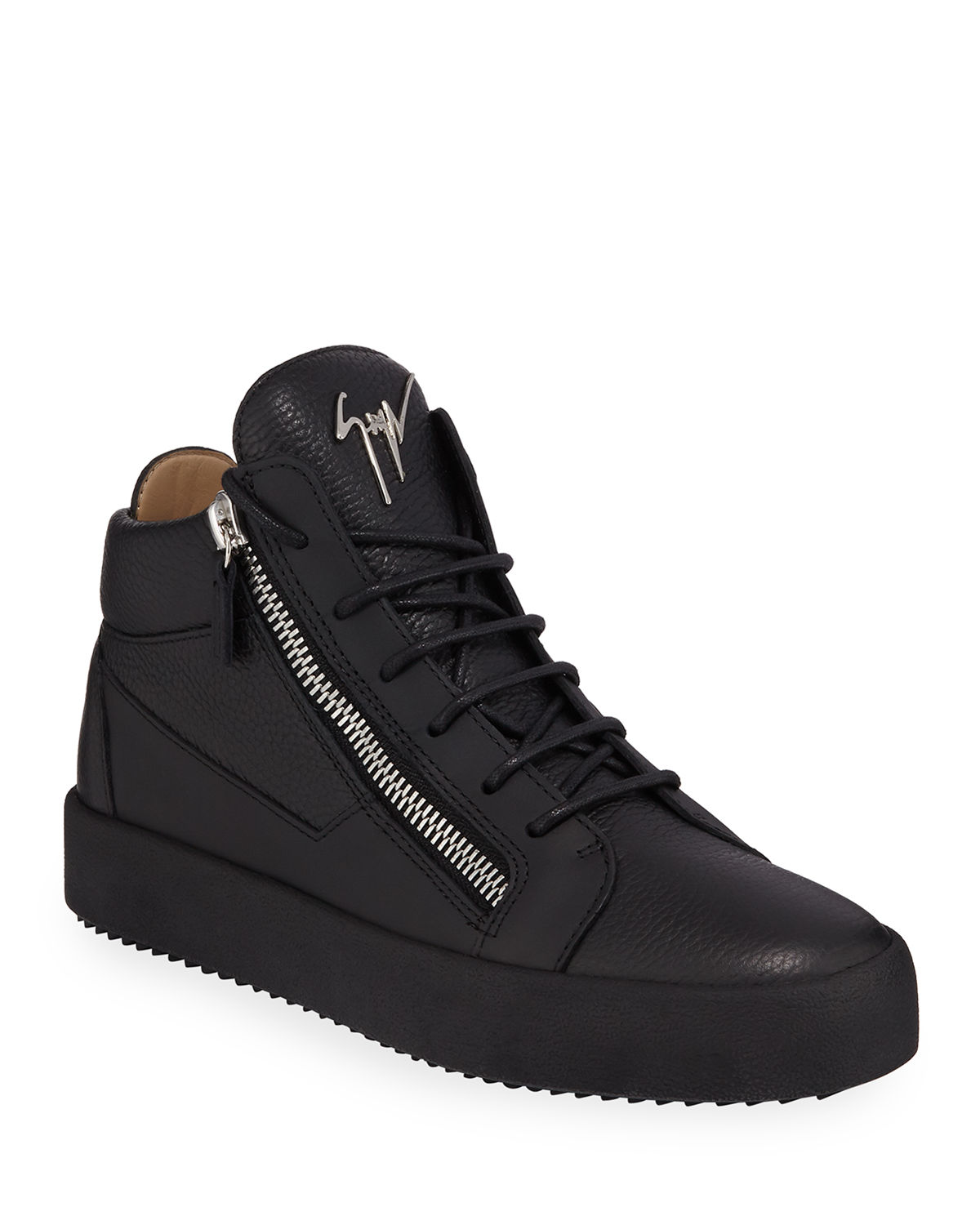 Giuseppe Zanotti Men s Textured Leather Mid-Top Sneakers  8eb06b9a9541b