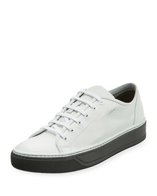 LANVIN Men'S Leather Low-Top Sneakers, White