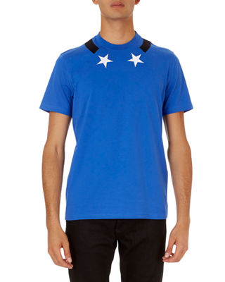 Image 1 of 3: Star-Collar Cuban-Fit T-Shirt