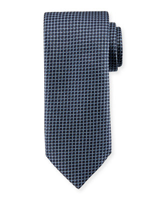 Box Pattern Silk Tie
