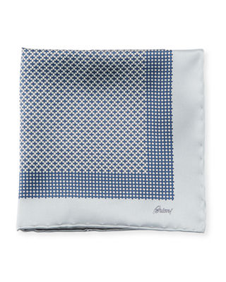 Brioni Solid-Edge Box Silk Pocket Square