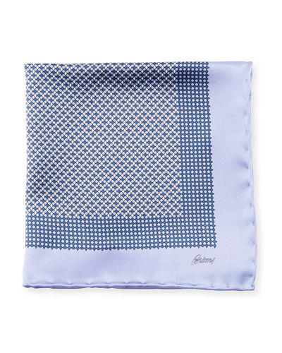 Solid-Edge Box Silk Pocket Square