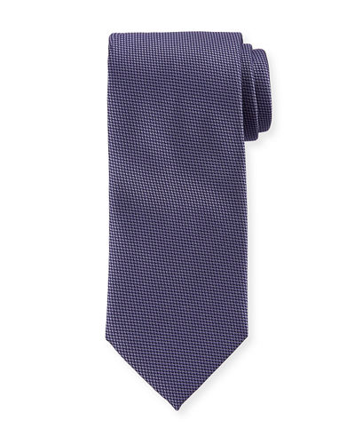 Micro Houndstooth Silk Tie