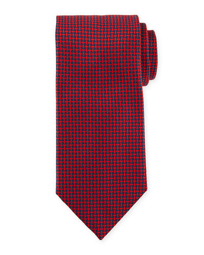 Tilted Square Silk Tie