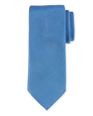 Solid Textured Silk Tie