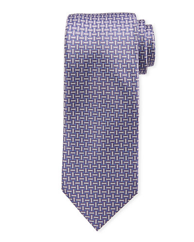 Basketweave Silk Tie