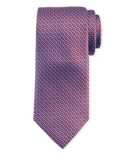 Rectangle Design Silk Tie