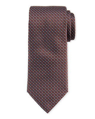 Brioni Rectangle Design Silk Tie