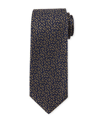 Pebble-Textured Silk Tie