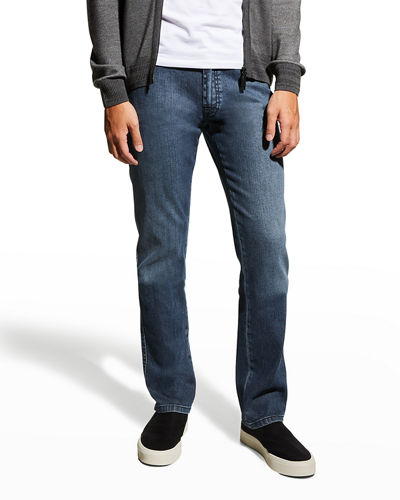 Brioni Dark-Wash Stretch-Denim Jeans