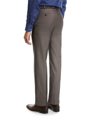 Image 2 of 3: Phi Flat-Front Wool/Mohair Trousers
