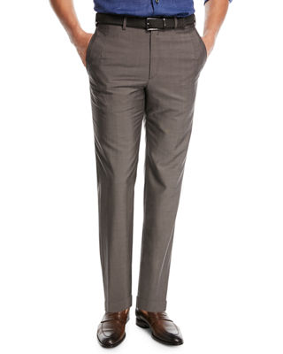 Image 1 of 3: Phi Flat-Front Wool/Mohair Trousers