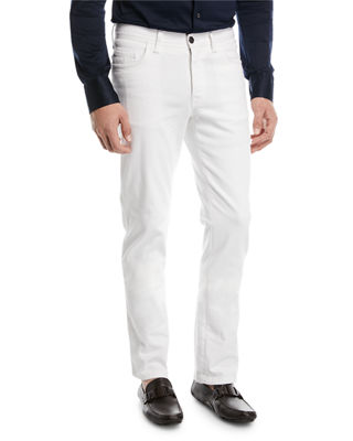 Brioni Straight-Leg Denim Jeans, White