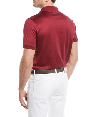 Image 2 of 2: Cotton Jersey Polo Shirt