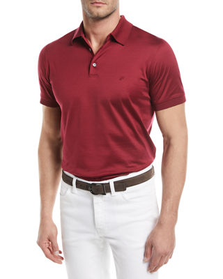 Image 1 of 2: Cotton Jersey Polo Shirt