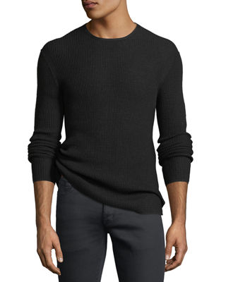 John Varvatos Star USA Waffle-Knit Crewneck Sweater