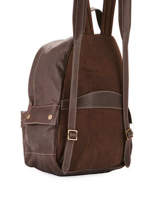Image 3 of 3: Men's Leather Backpack