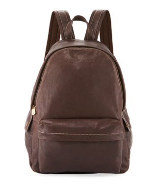 Image 1 of 3: Men's Leather Backpack