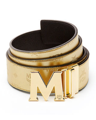 Image 1 of 2: Metallic Embossed Visetos Belt