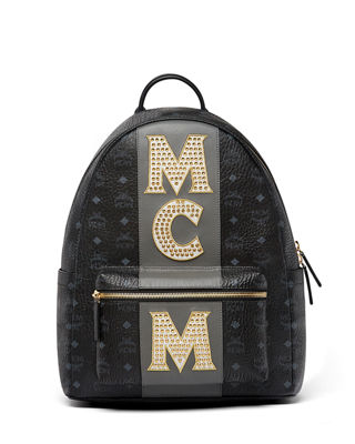 MCM Stark Men's Stripe Studs Backpack