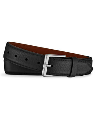 Shinola Men's Bombe Leather Tab Belt