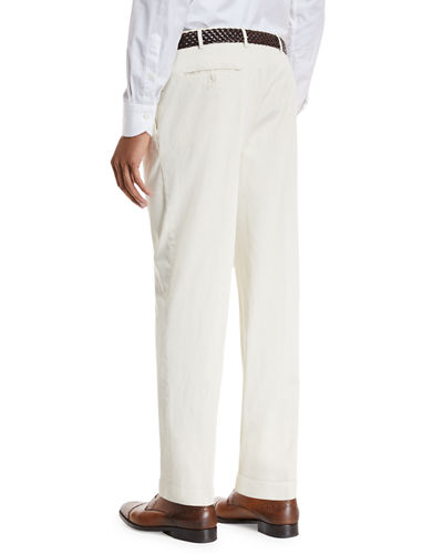 Garment-Dyed Stretch-Poplin Pants