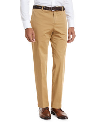 Image 1 of 3: Garment-Dyed Stretch-Poplin Pants
