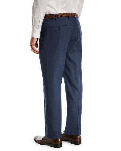 Wool/Linen Stretch Trousers