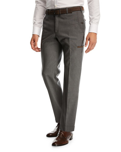 Flat-Front Travel Trousers