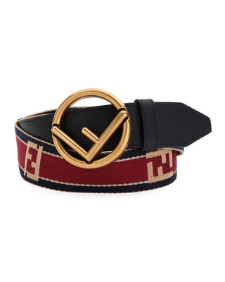Fendi Forever Logo-Buckle Belt