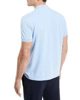 Image 2 of 2: Contrast-Tipped Cotton Polo Shirt