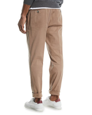 Image 3 of 4: Flat-Front Twill Pants