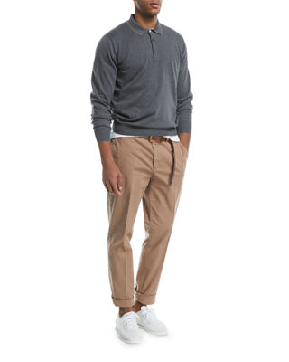 Image 4 of 4: Flat-Front Twill Pants