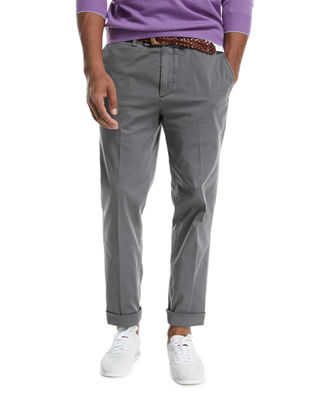 Flat-Front Twill Pants