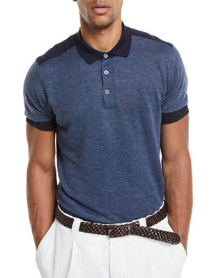Brunello Cucinelli Short-Sleeve Polo Sweater