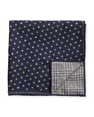 Brunello Cucinelli Reversible Twill Pocket Square