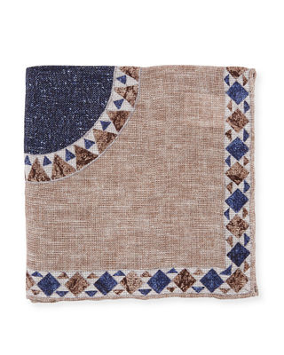 The Peyton Geometric Pocket Square