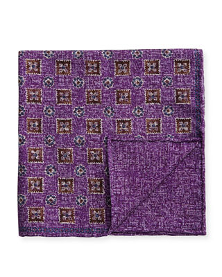 Brunello Cucinelli Neat Reversible Pocket Square