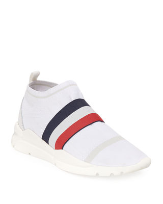 Moncler Adon Mesh-Knit Stretch-Stripe Sneaker