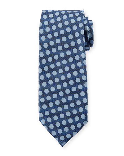 Dot Silk Satin Tie