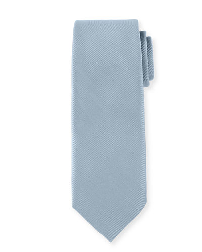 Solid Satin-Finish Silk Twill Tie