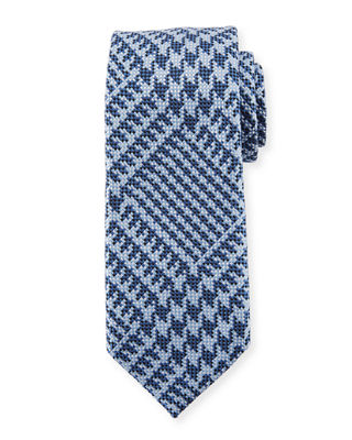 Exploded Plaid Silk Tie