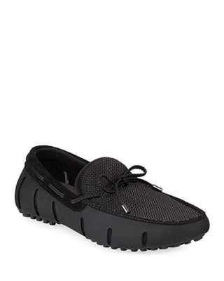 Mesh & Rubber Braided-Lace Boat Shoe