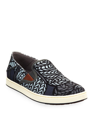 OLUKAI Men'S Kahu Pow Wow Fabric Sneakers in Dark Shadow/ Iron