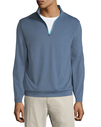 Peter Millar Perth Quarter-Zip Melangé Sweatshirt