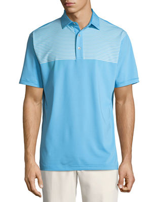 Image 1 of 2: Oberline Engineered Stripe Polo Shirt