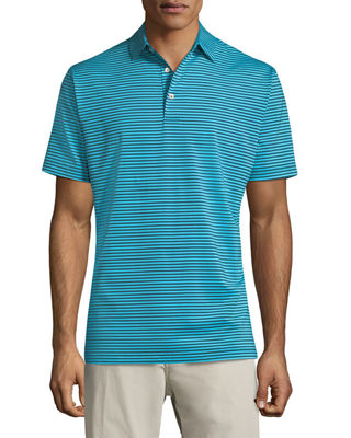 Image 1 of 2: Competition Striped Polo Shirt