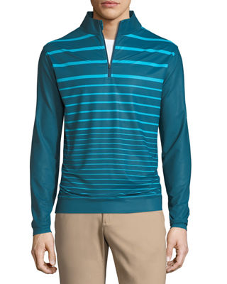 Image 1 of 2: Perth Engineered Striped Quarter-Zip Sweatshirt