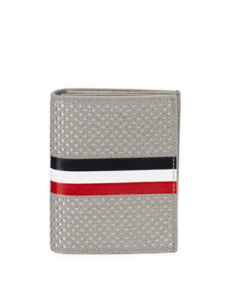 Double Card Holder with Striped Detail
